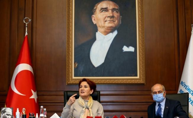 Meral Akşener, salgında hayatını kaybeden sağlıkçılar anısına fidan dikti