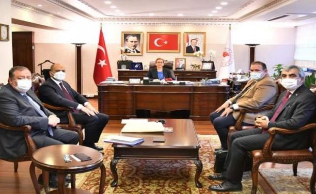 AK Parti Kilis heyetinden Ankara'da 'tarımsal' temas