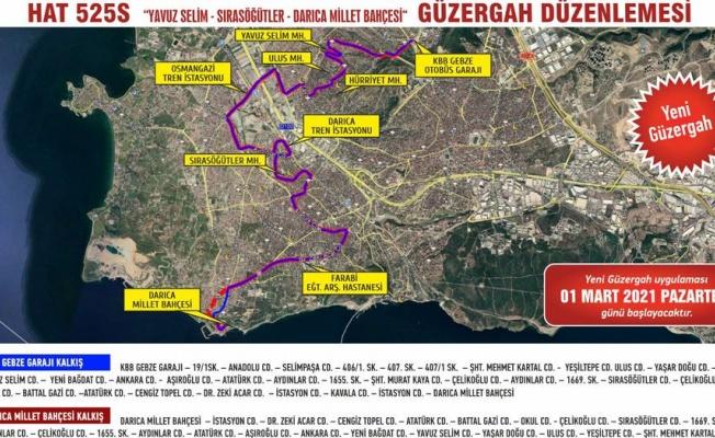 Gebze-Darıca arasında otobüs seferleri yeniden başladı