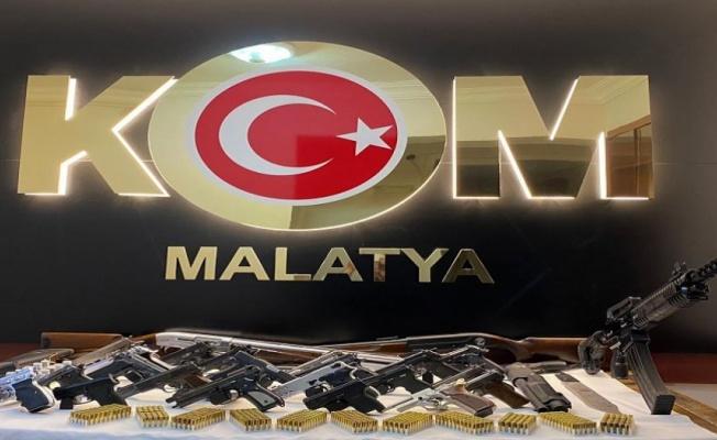 Malatya'da silahlı suç örgütüne ağır darbe!