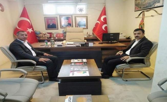 Polateli Kaymakamı'ndan MHP Kilis İl Başkanlığı'na ziyaret