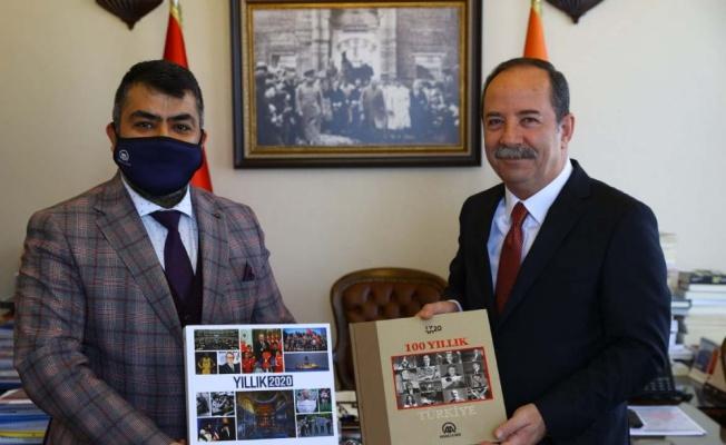 AA Edirne Bölge Müdürü Baran'dan, Belediye Başkanı Gürkan'a ziyaret