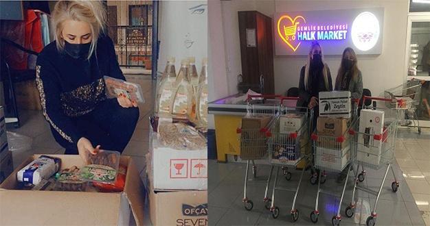 Bursa'da Gemlikli esnafa kardelen desteği