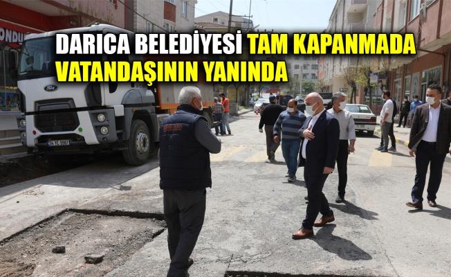 Darıca Belediyesi tam kapanmada vatandaşının yanında