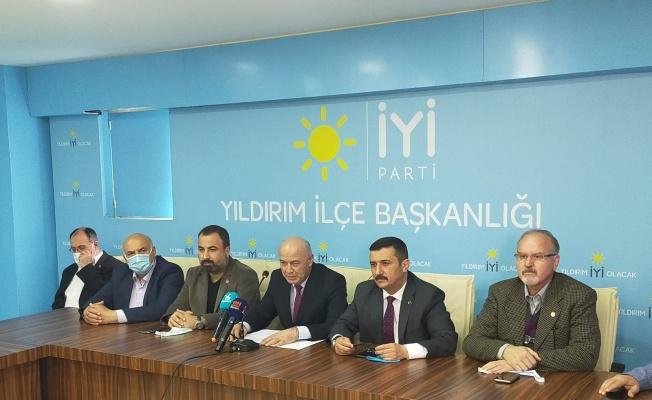 İYİ Parti'den Yıldırım Belediyesi'ne tepki