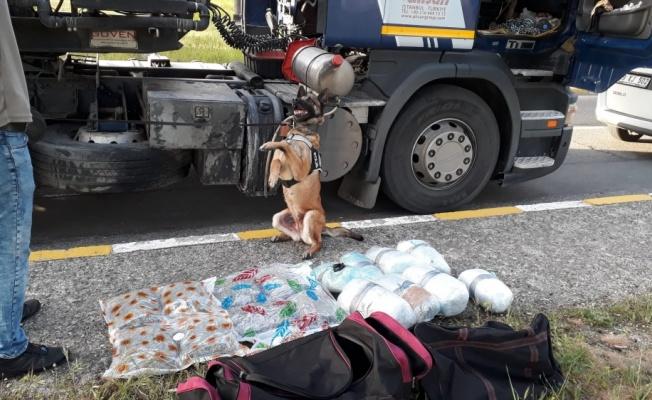 Tekirdağ'da bir tırda 20 kilogram uyuşturucu ele geçirildi, sürücü gözaltına alındı