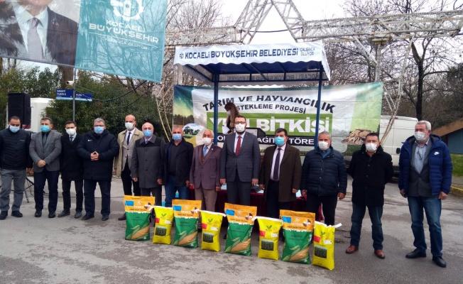 Yüzde 50 hibeli tohum desteği çiftçilere ulaştırılmaya başlandı