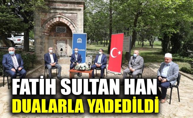 Fatih Sultan Mehmet Han, vefat ettiği tarihi Hünkar Çayırı'nda dualarla yadedildi