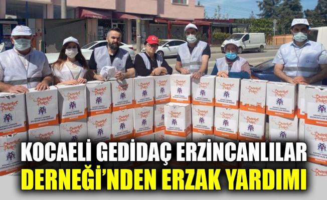 Kocaeli Gedidaç Erzincanlılar Derneği'nden erzak yardımı