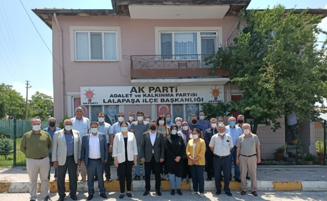 AK Parti Edirne İl Başkanı İba, Lalapaşa'da ziyaretlerde bulundu