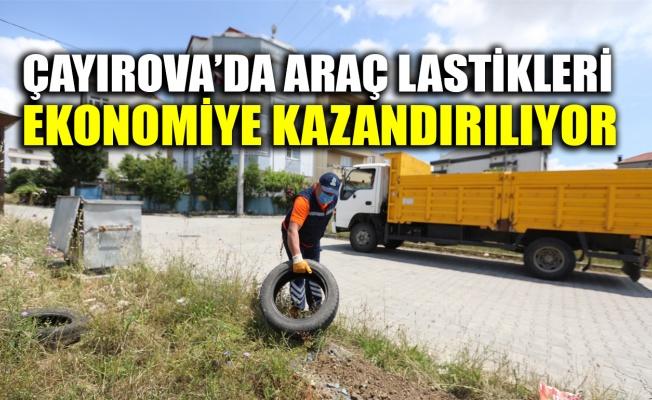 Çayırova'da araç lastikleri ekonomiye kazandırılıyor