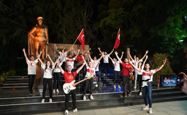 Çorlu Belediyesi Bando ve Kent Orkestrası, A Milli Takım için özel marş besteledi