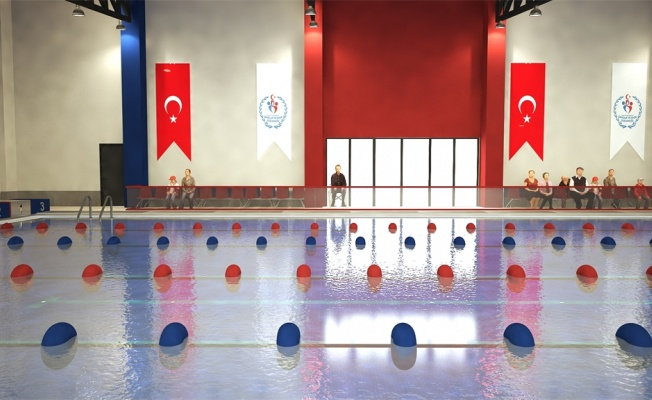 Tavşancıl Yarı Olimpik Yüzme Havuzu'nun temeli atılıyor
