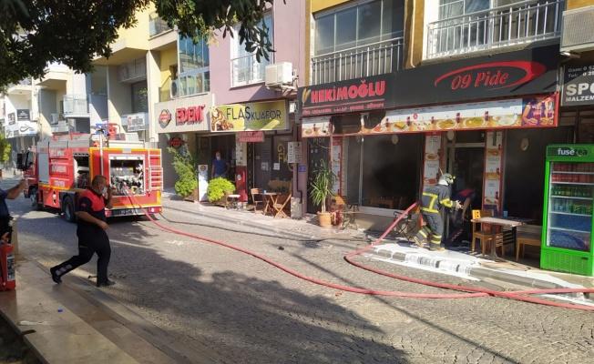 Aydın Efeler'de işyeri yangını