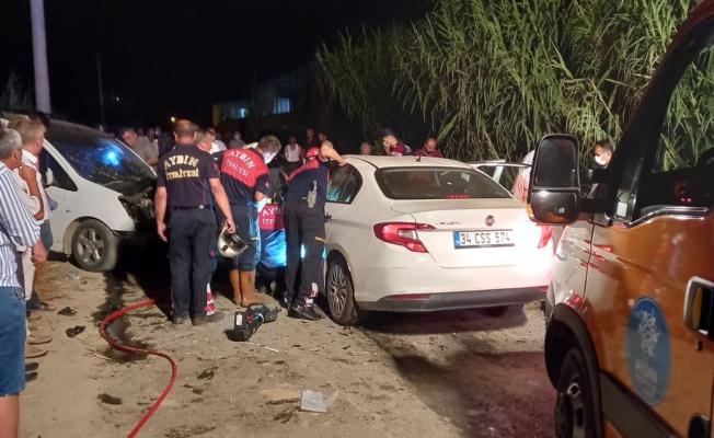 Aydın'da feci kaza: 1 ölü, 7 yaralı