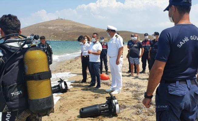 Bozcaada'da denizde kaybolan kişi için başlatılan arama kurtarma çalışmaları ikinci gününde devam ediyor