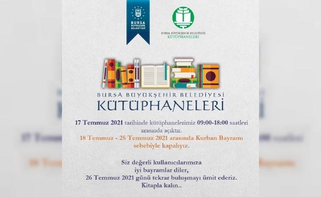 Bursa kütüphanelerinde bayram molası