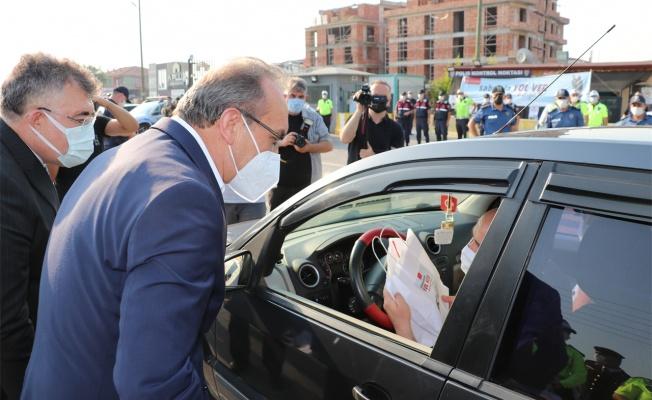 Kocaeli Valisi Yavuz, bayram öncesi trafik denetimine katıldı