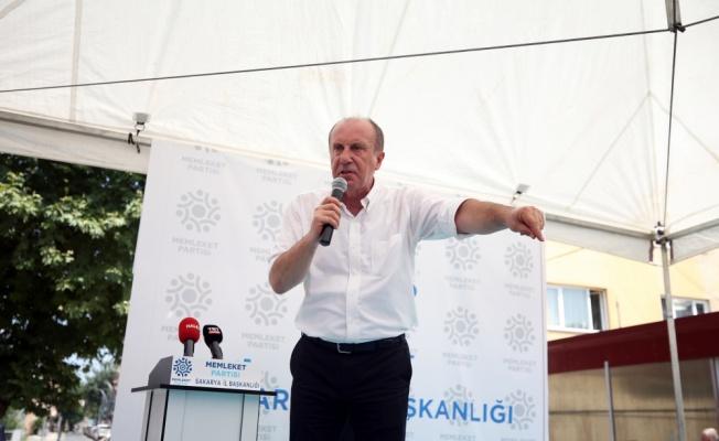 Memleket Partisi Genel Başkanı İnce, Sakarya'da partisinin il ve merkez ilçe binasını açtı