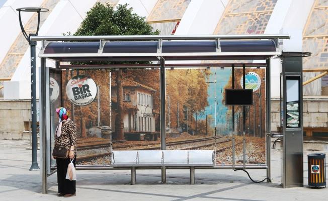 Otobüs duraklarından Sakarya tanıtımı