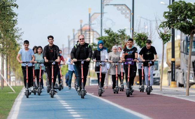 Sivas'ta elektrikli scooter desteği