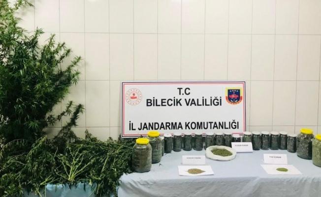 Bilecik'te uyuşturucu operasyonunda yakalanan 2 şüpheli tutuklandı
