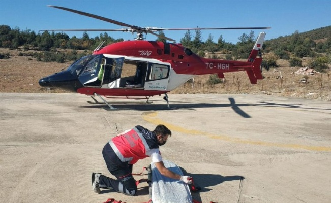 Bursa'da helikopter ambulans 'dağ' için havalandı