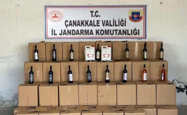 Çanakkale'de usule aykırı satışı yapılan şaraplara el konuldu