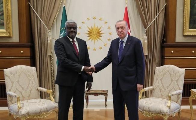 Cumhurbaşkanı Erdoğan, Mahamat'ı kabul etti
