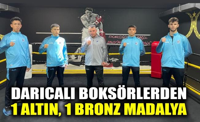 Darıcalı boksörlerden 1 altın, 1 bronz madalya