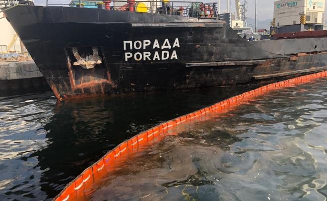 Derince Limanı'nda Körfezi kirleten gemiye 1 milyon 286 bin TL ceza