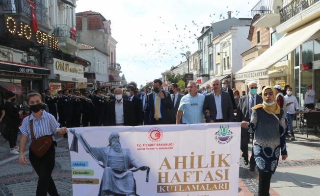 Edirne'de Ahilik Haftası kutlamaları başladı