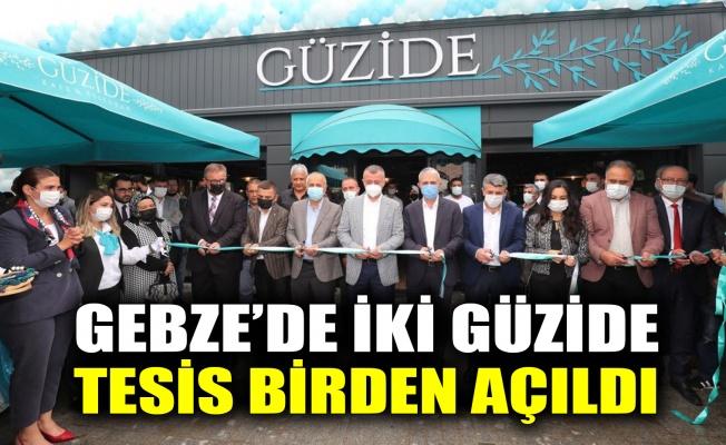Gebze'de iki güzide tesis birden açıldı