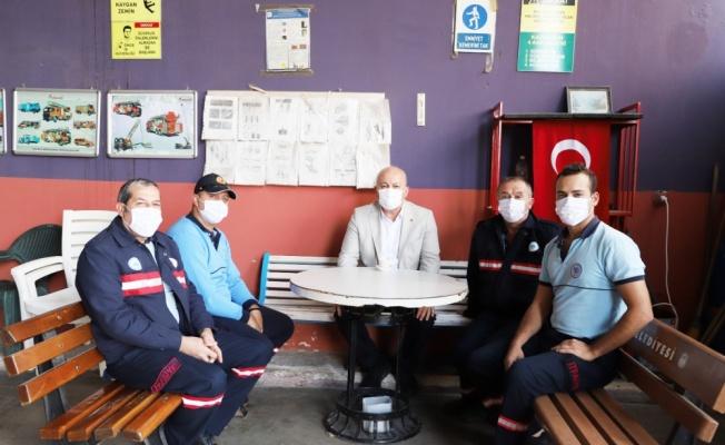 Hayrabolu Belediye Başkanı İnan'dan, itfaiyecilere ziyaret