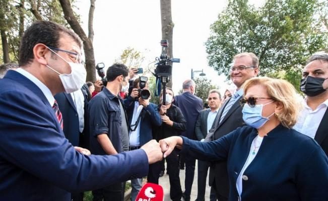 İstanbul'da İmamoğlu ve Sabancı 'Bebek Parkı'nda buluştu