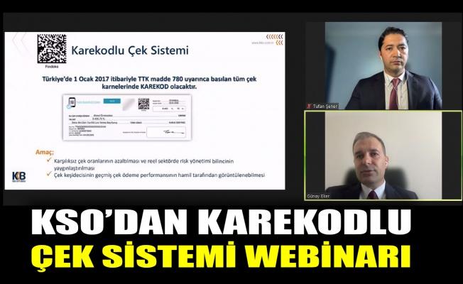 KSO'dan 'Karekodlu Çek Sistemi' webinarı