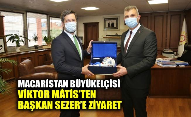Macaristan Büyükelçisi Viktor Mátis'ten Başkan Sezer'e ziyaret