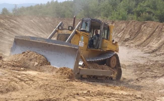 Manisa Kovancı göleti temizlik çalışmaları