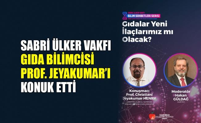 Sabri Ülker Vakfı, Gıda Bilimcisi Prof. Jeyakumar'ı konuk etti