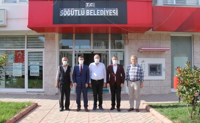 Söğütlü Kaymakamı Gün'den Belediye Başkanı Özten'e ziyaret