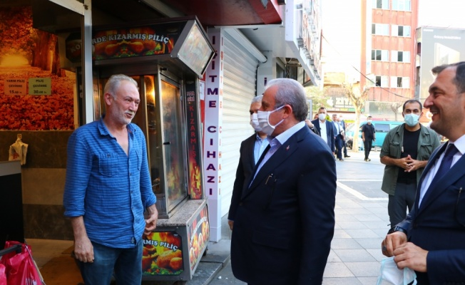 TBMM Başkanı Şentop Tekirdağ'da esnaf ziyareti yaptı