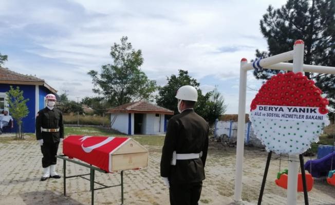Tekirdağ'da Güneydoğu Gazisi son yolculuğuna uğurlandı