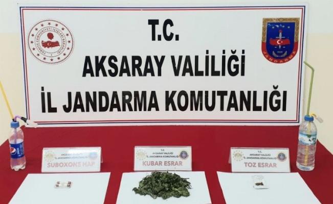 Aksaray'da uyuşturucu operasyonu: 2 gözaltı