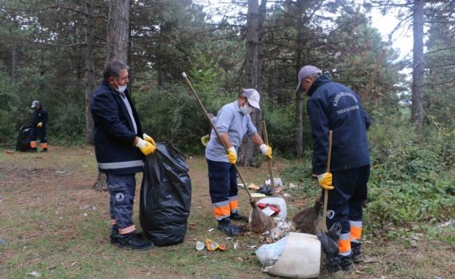 Aydos Ormanı'nda temizlik yapıldı