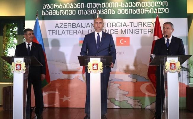 """Bakan Akar: """"Azerbaycan ile Gürcistan ilişkilerimiz örnek olmalı"""""""