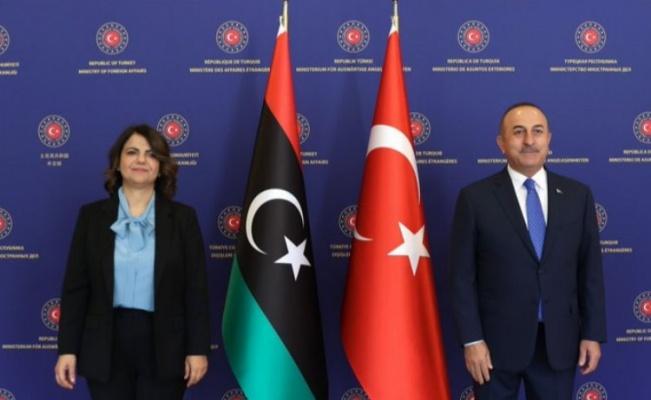 Bakan Çavuşoğlu, Libyalı mevkidaşını ağırladı