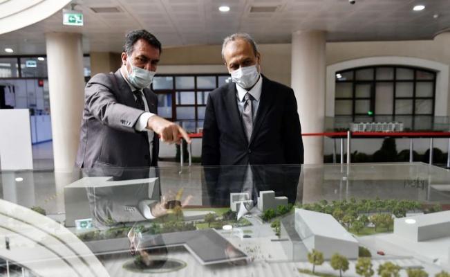 Bursa Osmangazi'de Başkan Dündar'a iade-i ziyaret