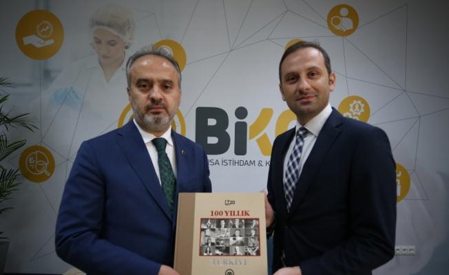 Büyükşehir Belediye Başkanı Aktaş, AA Bursa Bölge Müdürü Aksoy'u kabul etti
