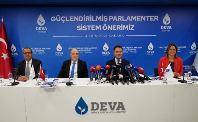 DEVA'dan 'Güçlendirilmiş Parlamenter Sistem' önerisi