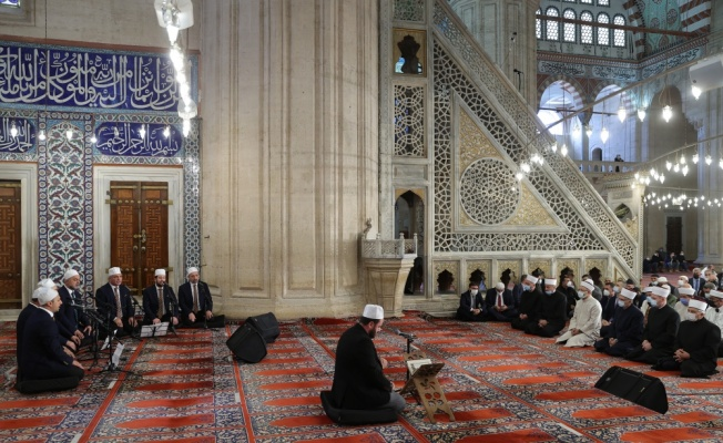 Diyanet İşleri Başkanı Erbaş, Selimiye Camisi'nde hutbe irat etti: